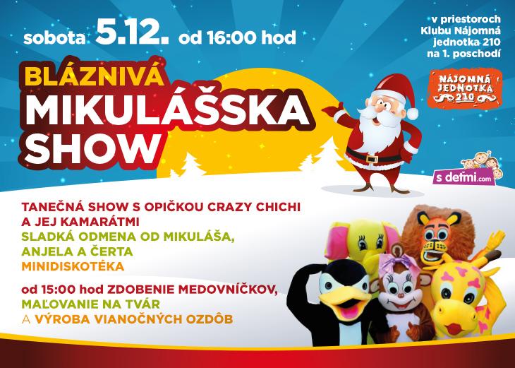 2a6d30d8f BLÁZNIVÁ MIKULÁŠSKA SHOW v OC MAX NITRA - Kam v meste | moja Nitra