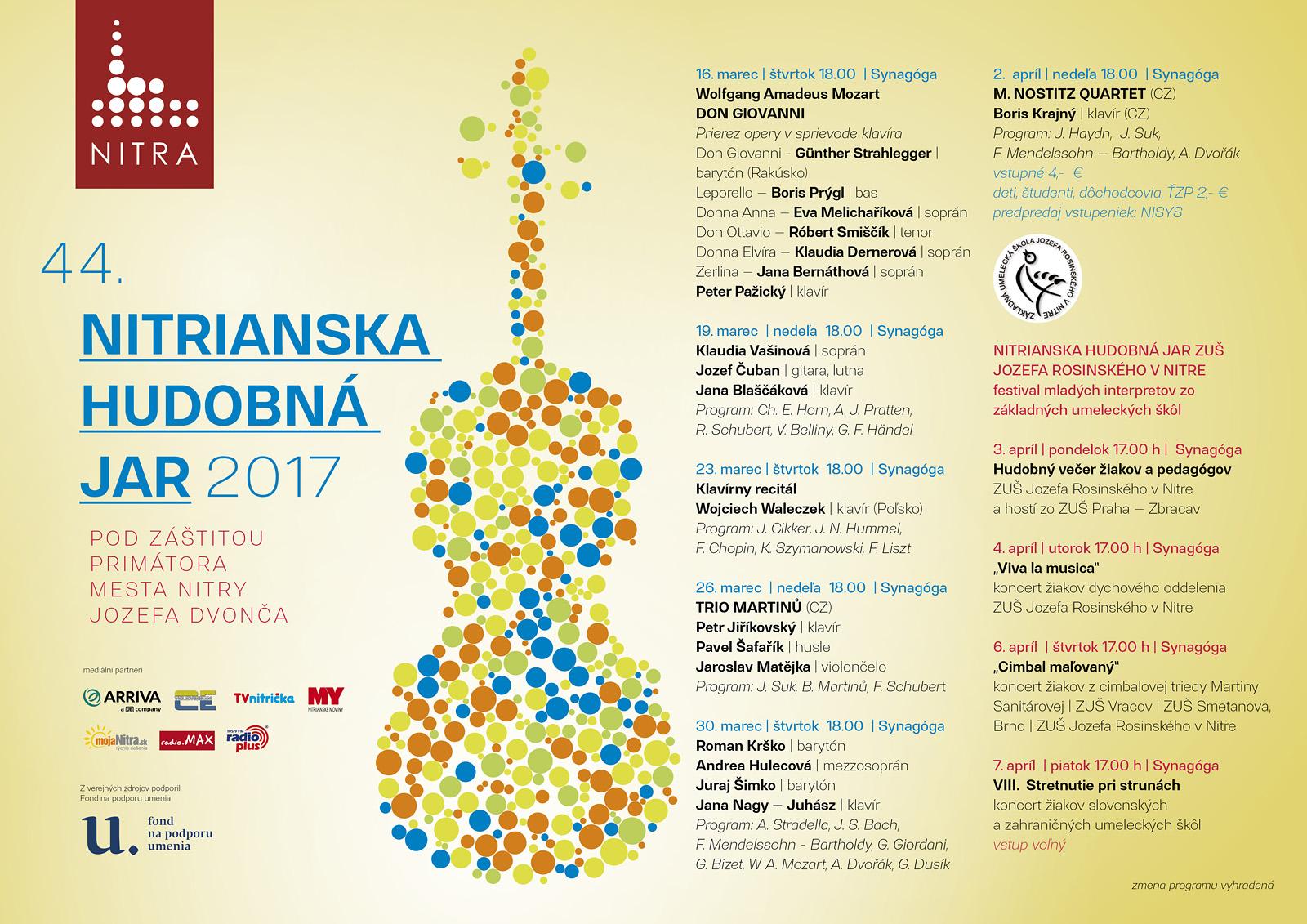d6ca1f154 Jarné hudobné tóny - 44.Nitrianska hudobná - Kam v meste | moja Nitra