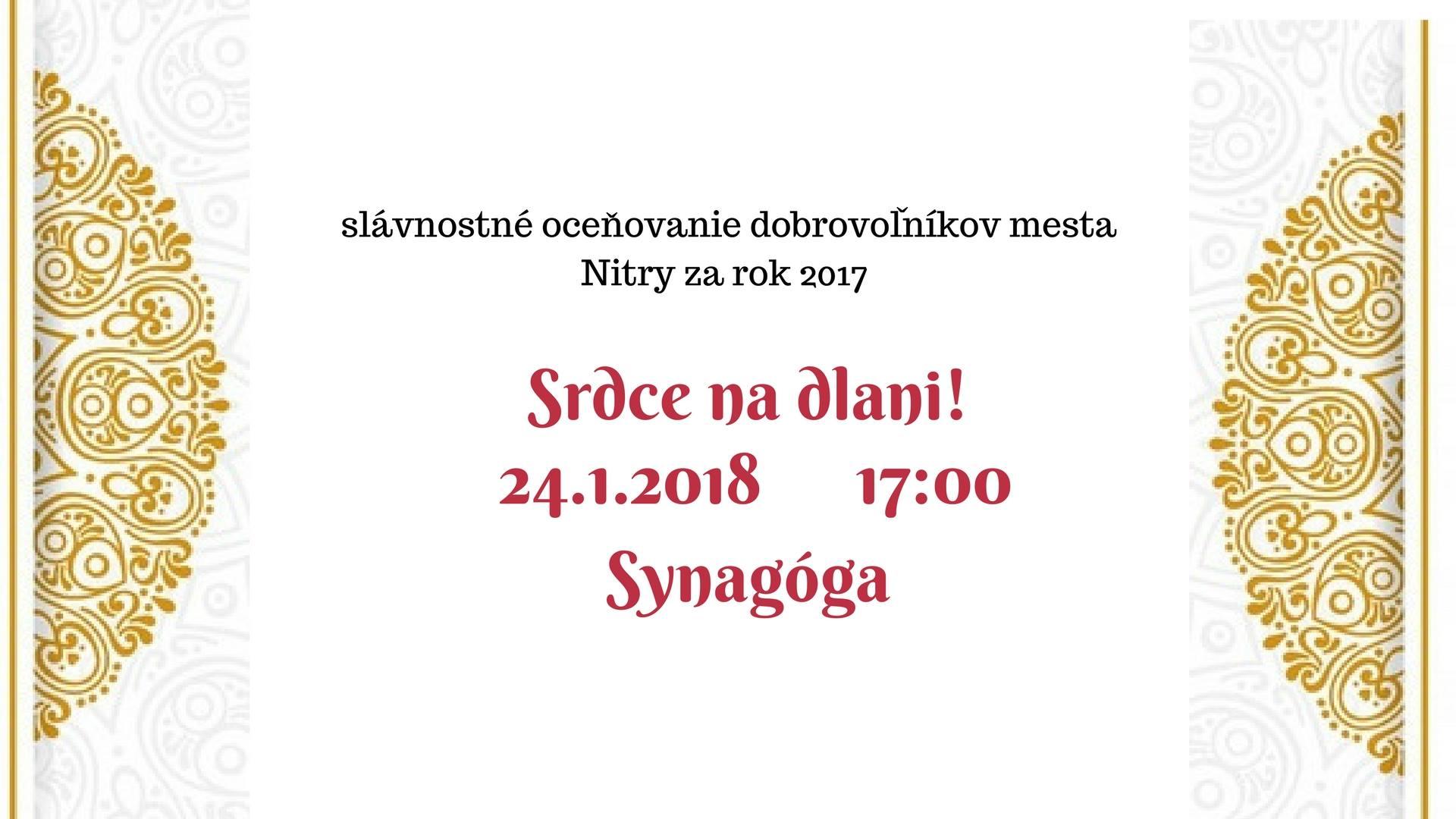 9a0bf6e077ad2 Srdce na dlani 2018 - Kam v meste | moja Nitra